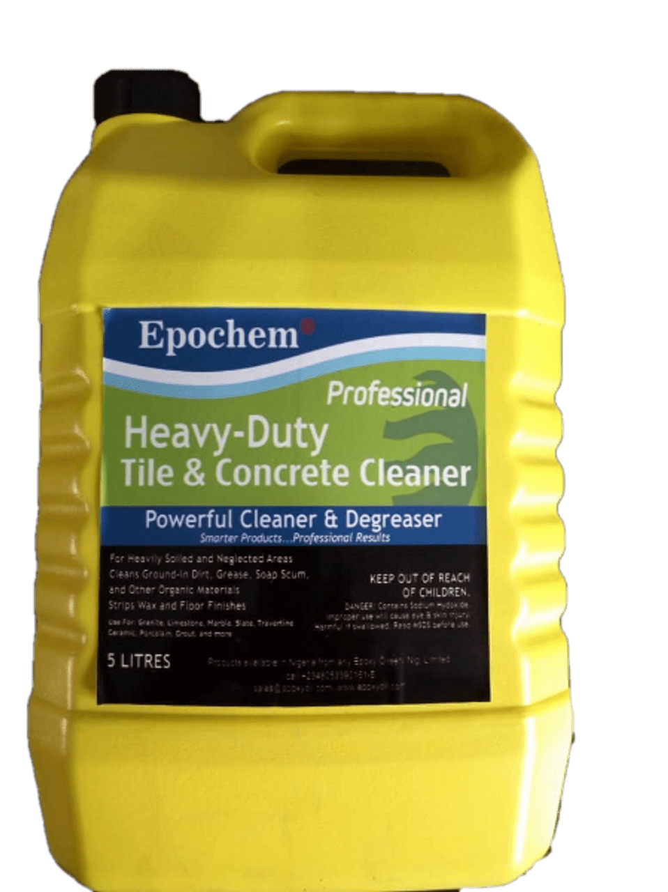 epochem heavy duty tile and concrete cleaner 5 liters