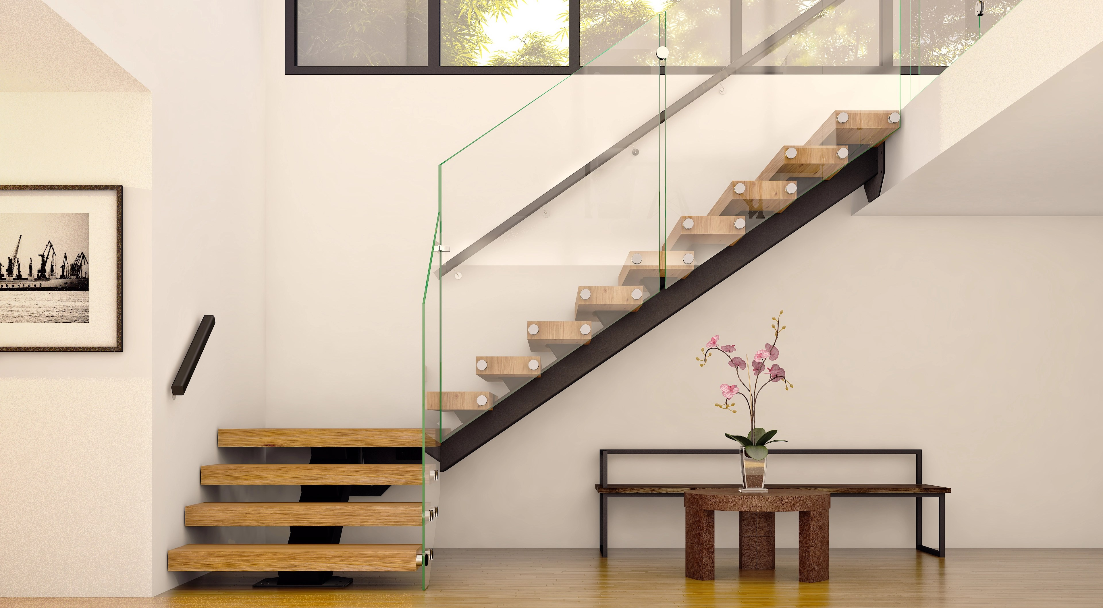 Floating Straight Staircases Made To Order Mylen Stairs