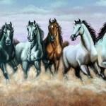 Buy Vastu 7 Horses Handmade Painting By Preeti Dungarwal Code Art 2521 19719 Paintings For Sale Online In India