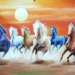 Buy 7 Horses Running In A Desert Handmade Painting By Artoholic Code Art 3319 29472 Paintings For Sale Online In India