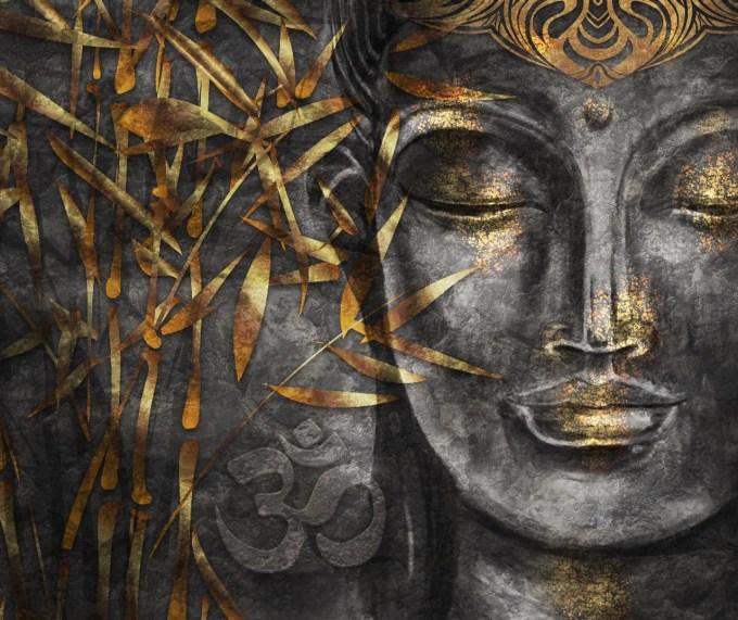 Shop Golden Grey Buddha (PRT_1131) - Canvas Art Print - 25in X ...