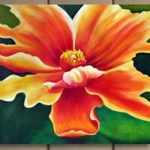 Buy Beauty Of Orange Flower By Community Artists Group Rs 6490 Code Rtcsh 18 3636 Shop Art Paintings Online In India