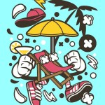 Shop Beach Chair Prt 2343 Canvas Art Print 21in X 29in Canvas Art Print Online