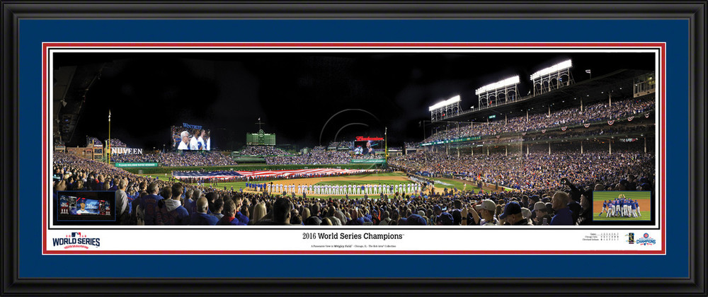 chicago cubs panoramic poster wrigley