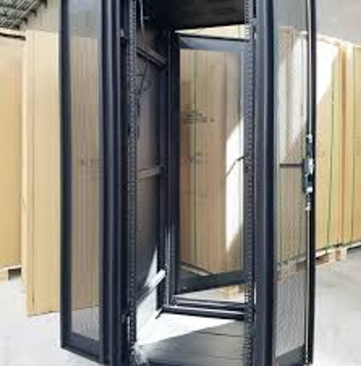 server cabinet 42u rack space with top fan tray dimensions height 82 x width 24 x depth 31 5 19 standard rack ships in a wood crate