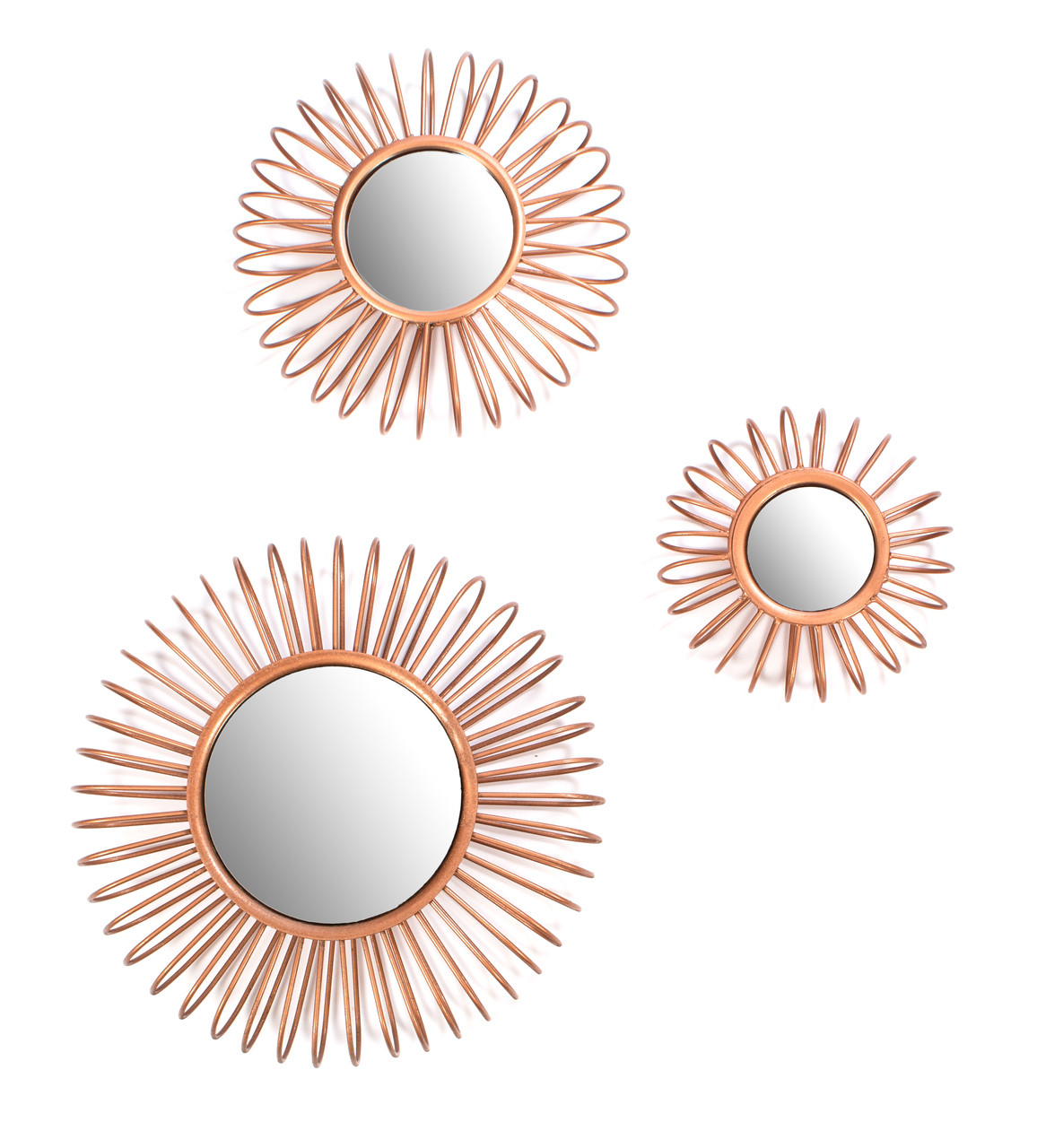 red fig home wire wall decor mirrors set of 3