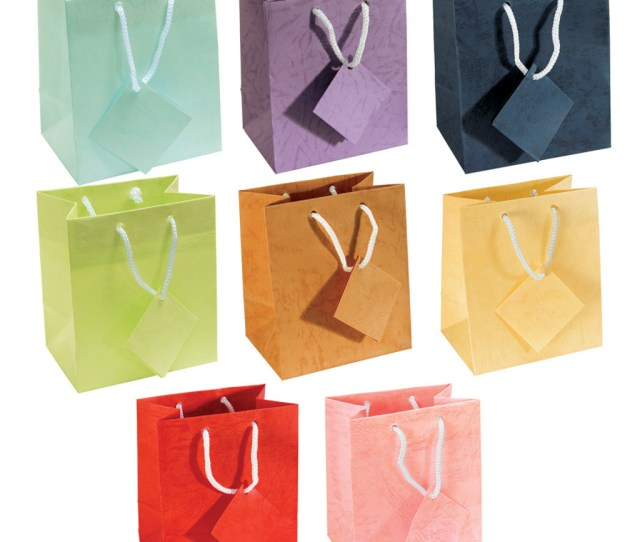 X H Assorted Pastel Gift Bags