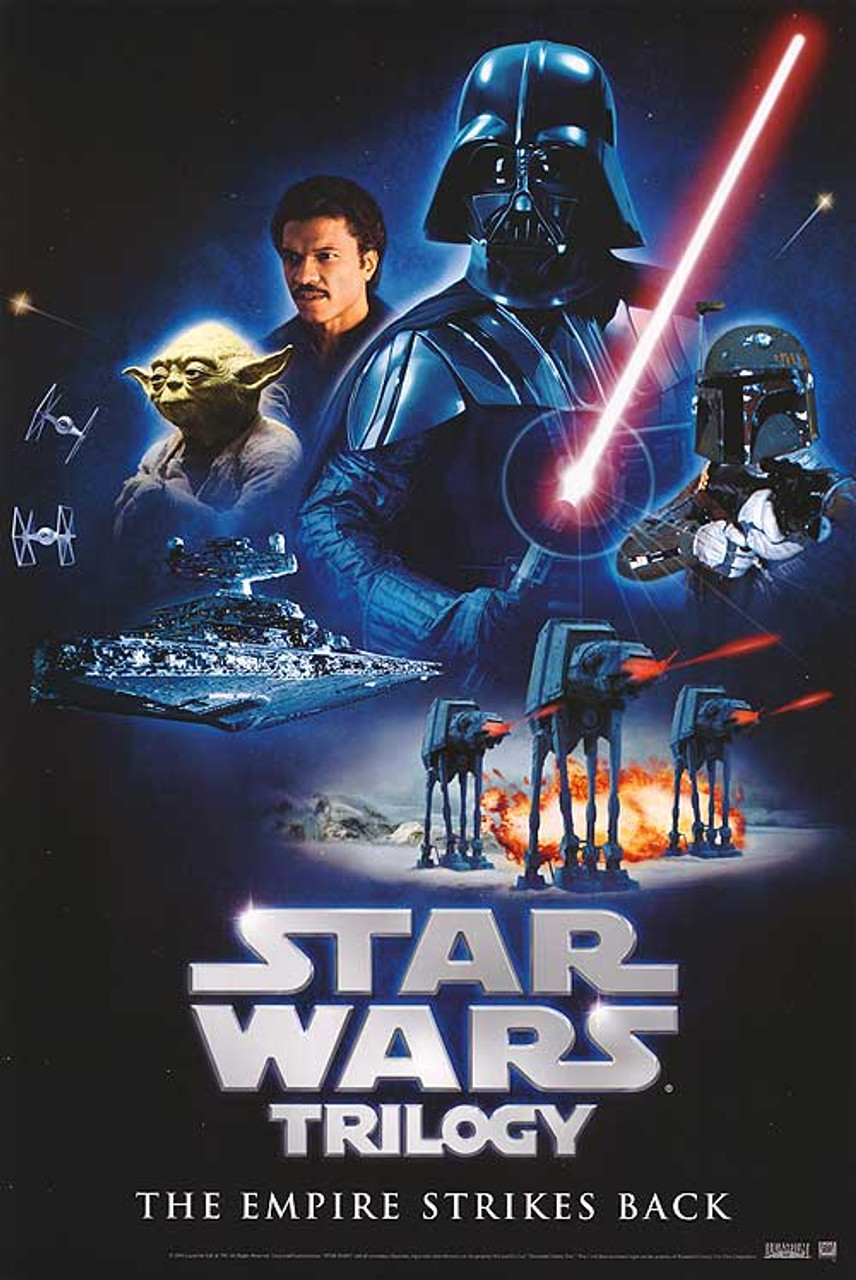 star wars trilogy the empire strikes back video 1980 original video poster