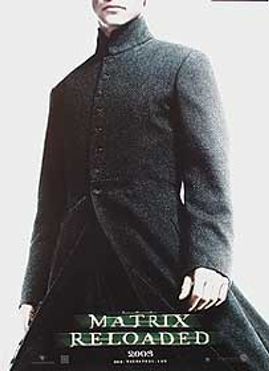 the matrix reloaded single sided advance reprint neo reprint poster