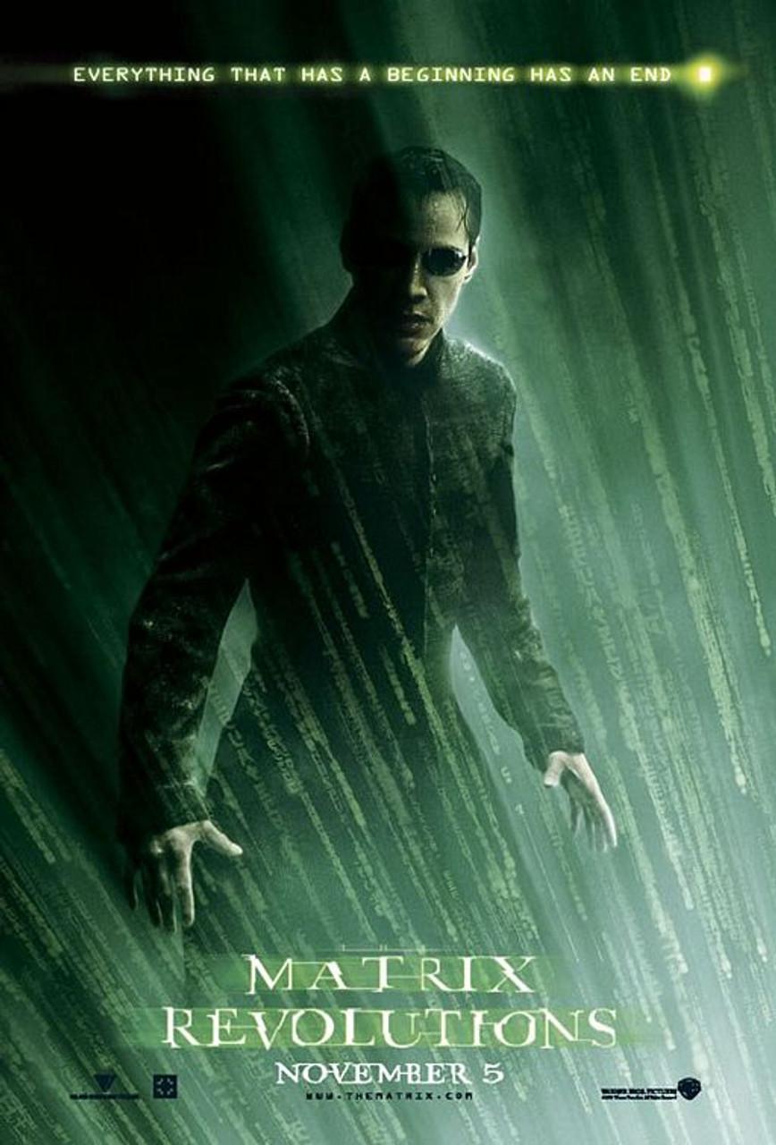 das original kino poster von matrix revolutions double sided style a