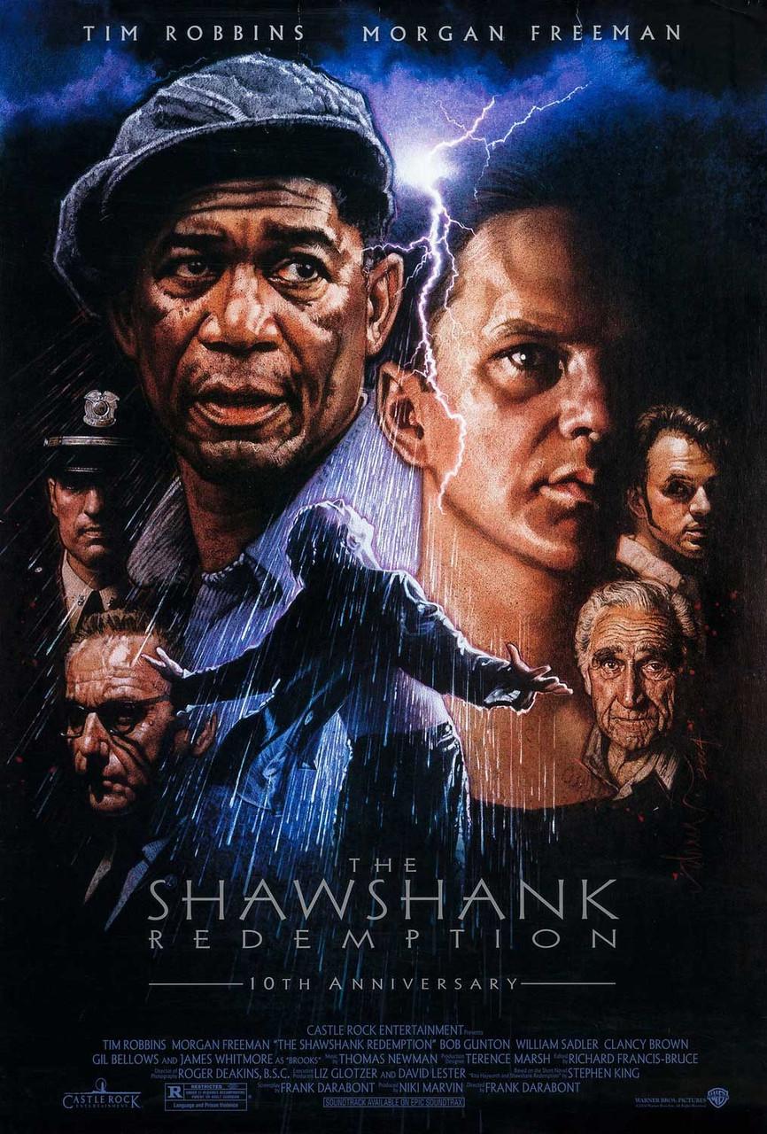 the shawshank redemption original filmplakat drew struzan artwork zum 10 jahrigen jubilaum
