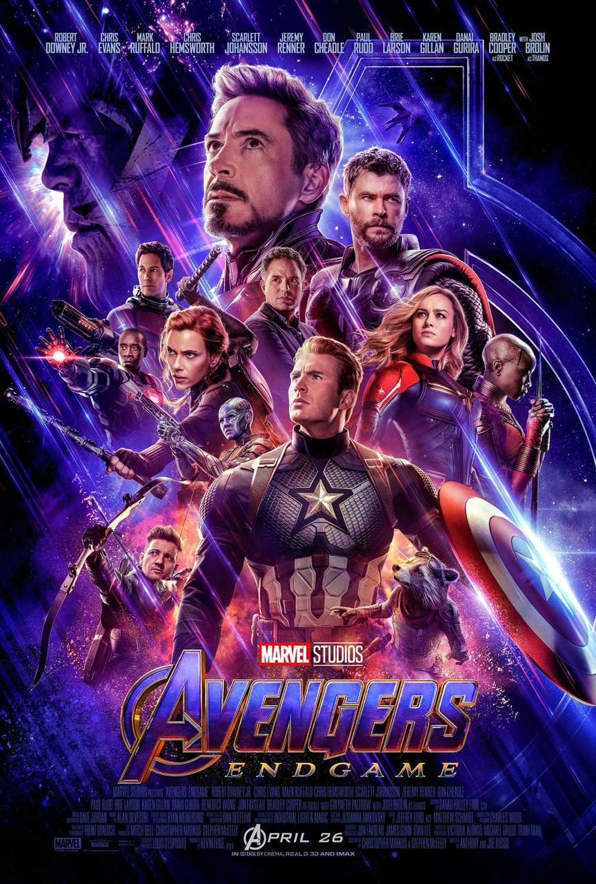 avengers endgame original filmplakat final style