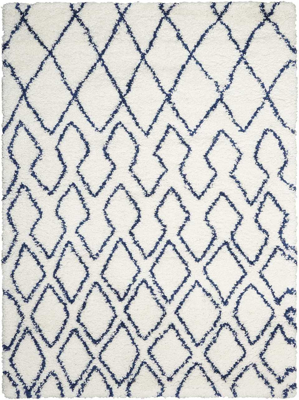 Calvin Klein Riad Ivory Navy Shag Area Rug By Nourison Free Shipping Rug Fashion Store