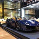 1 18 Bbr Ferrari 488 Pista Spider Blue Resin Car Model Limited 28 Pieces Livecarmodel Com