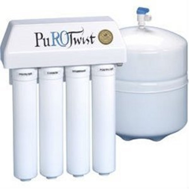 pt4000t36 gold purotwist 4 stage 36 gpd reverse osmosis system air gap faucet