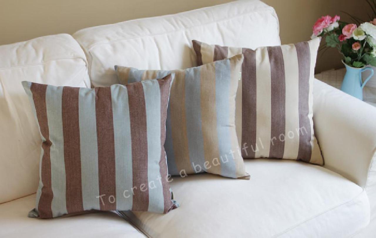 tangdepot decorative handmade stripe cotton throw pillow cover pillow sham euro sham