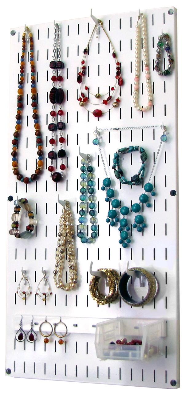 https www wallcontrol com jewelry organizer wall hanging jewelry holder necklace rack white wall mounted jewelry organizer