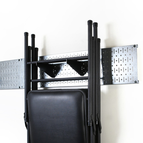 garage storage lawn garden tool organization wall organizer rack galvanized metallic pegboard with accessories