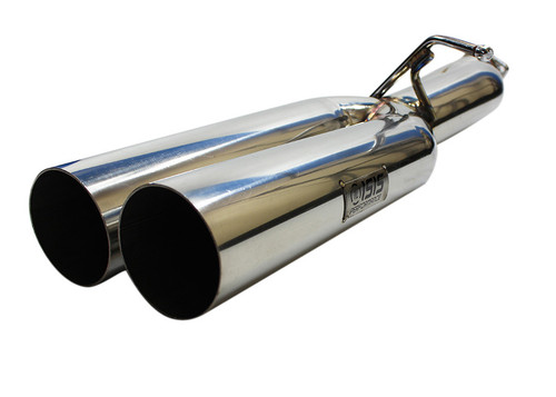 isr performance ep straight pipes dual tip exhaust for the hyundai genesis coupe 3 8l 2010