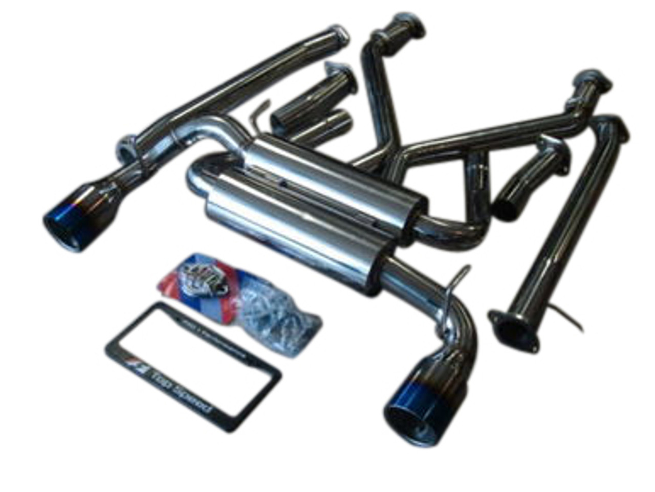 top speed pro 1 63 5mm ti tips catback exhaust systems 370z z34 vq37vhr 09 16