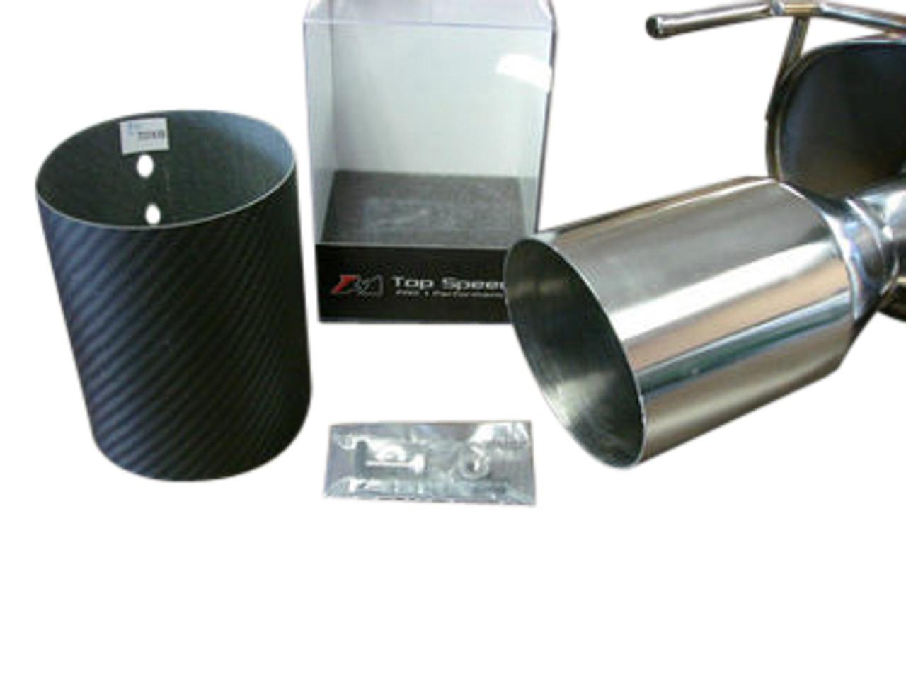 universal 114mm 4 5 slide on carbon fiber tip exhaust upgrade straight cut