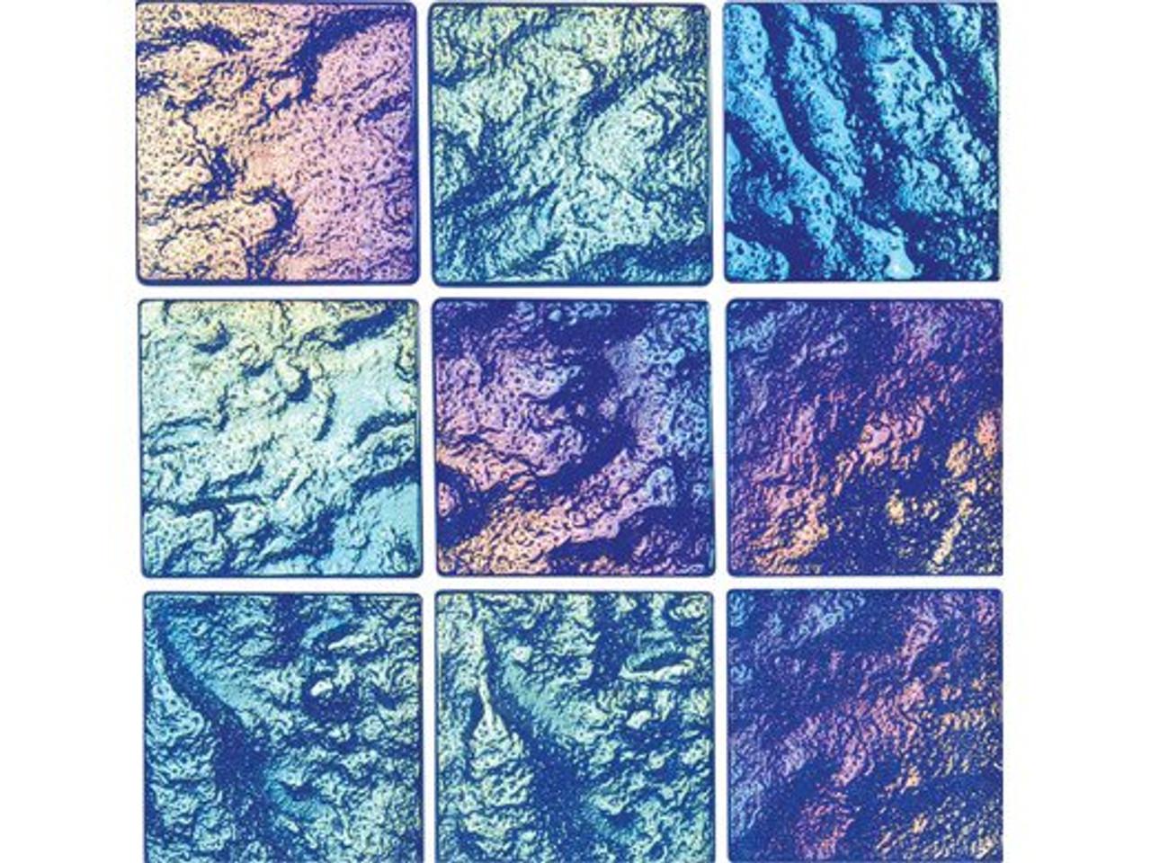 national pool tile lightwaves glass tile blue 2x2 lwv blue2x2