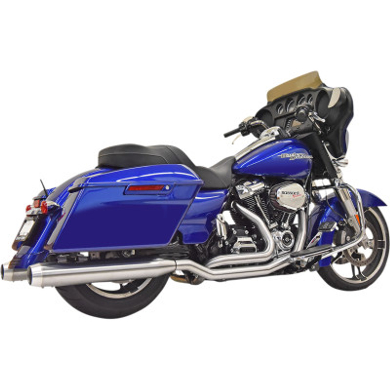 bassani true dual exhuast system stainless steel fits 17 20 touring models
