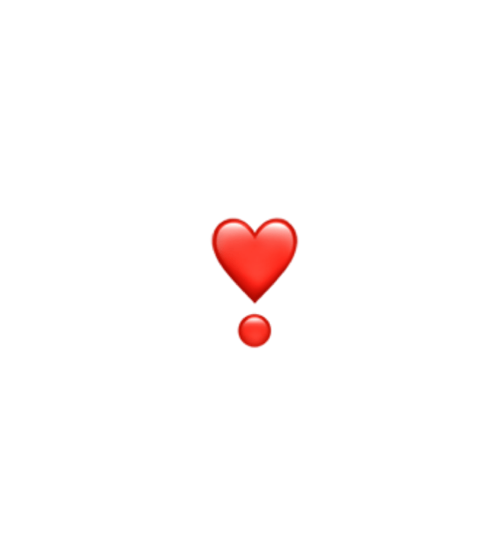 Hart Exclamation Mark Heart Sticker By