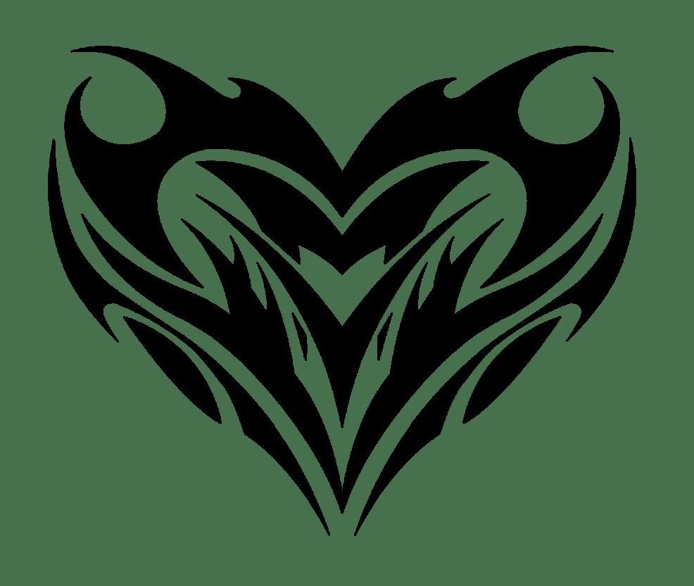 Heart Tatoo Black сердце тату эскиз черный
