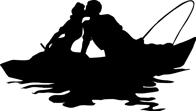 Download fishing couple love boat lake - Sticker by miriam