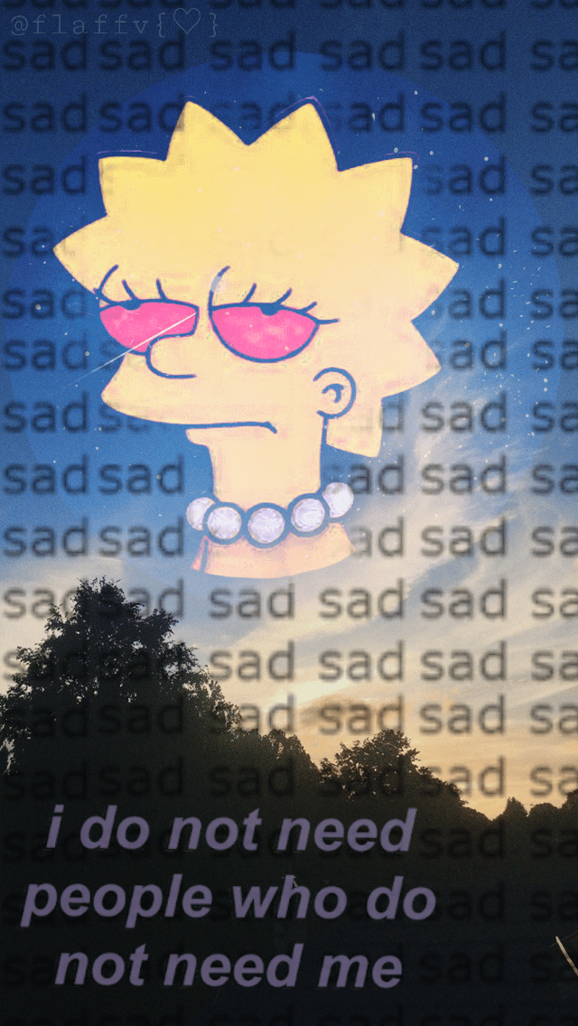 Depression Sad Simpsons Wallpaper Iphone Wallpaper Iphone