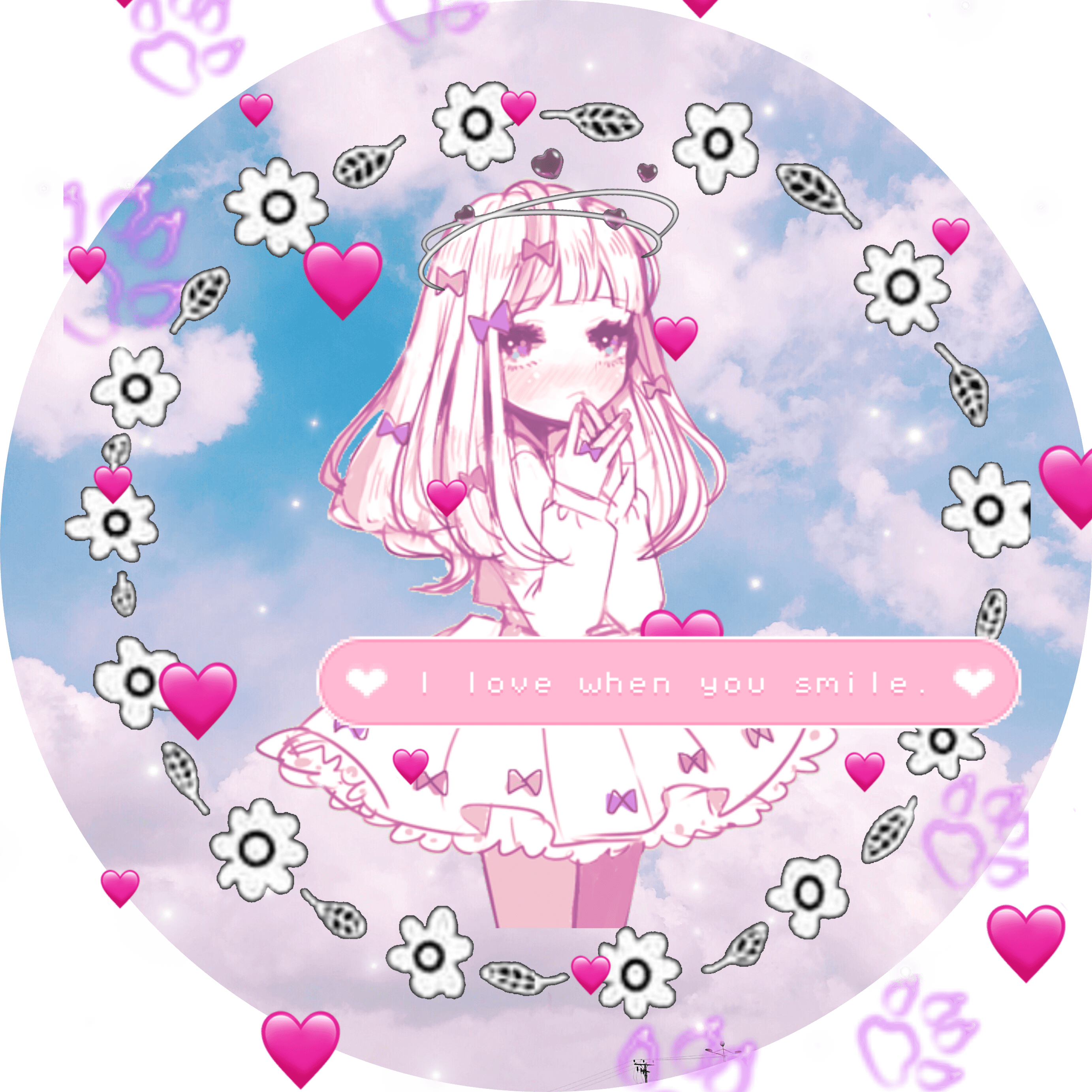 Aesthetic anime pfp boy smoking. pfp anime girl kawaii loli adorable cute hearts pawprin...