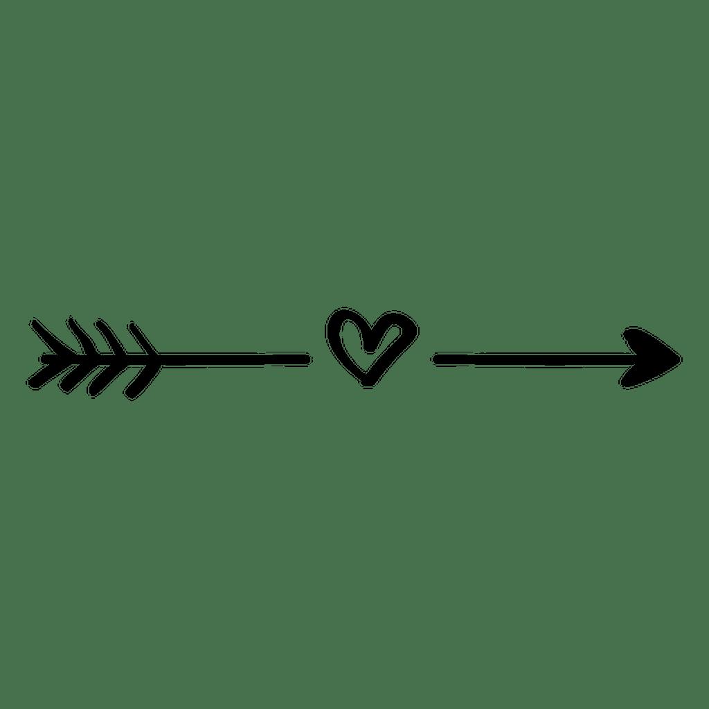 Download heart line love arrow black