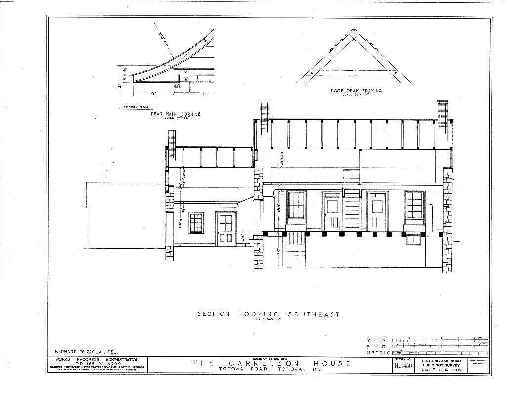 Van Allen Garretson House Totowa Road Totowa Passaic