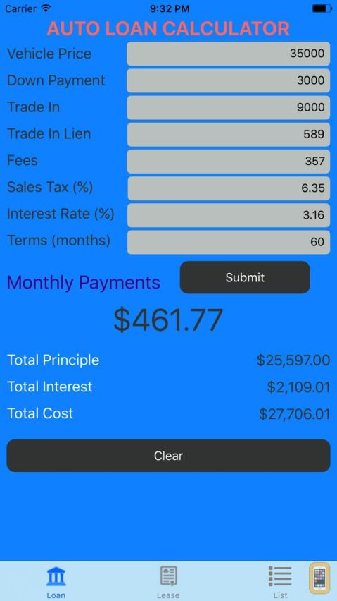 car payment calculator with tax and trade. Black Bedroom Furniture Sets. Home Design Ideas