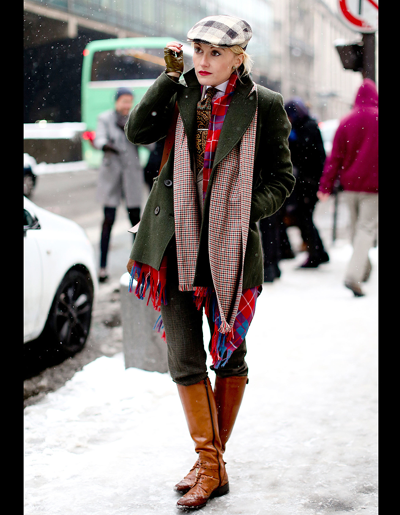 Street Style Comment Tre Chic Sous La Neige Mix