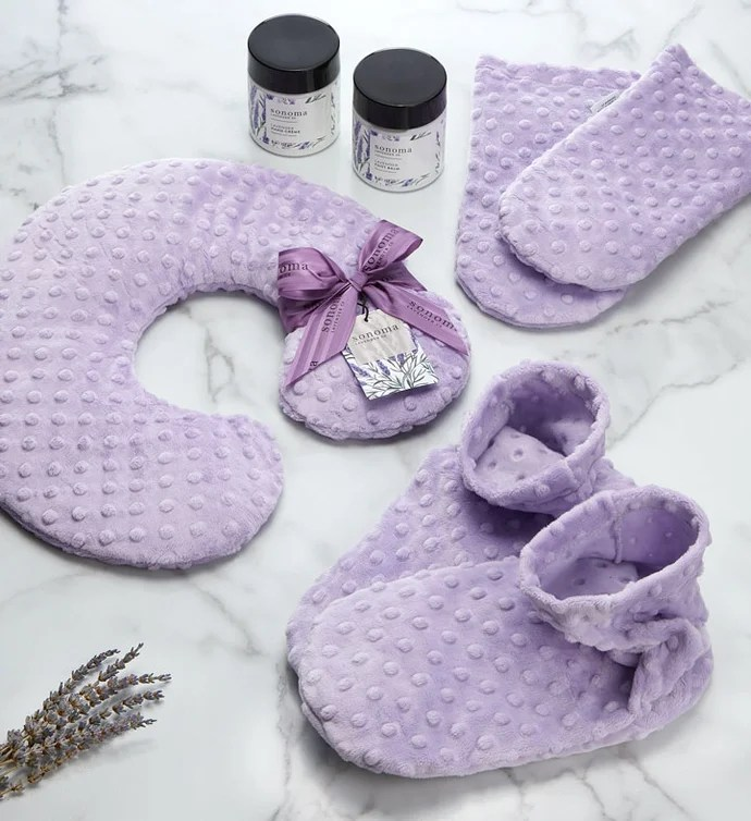sonoma lavender hand and foot spa set