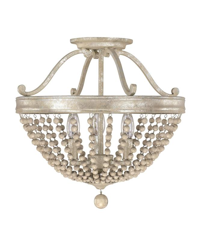 Shown In Silver Quartz Finish And Wood Beads Accent