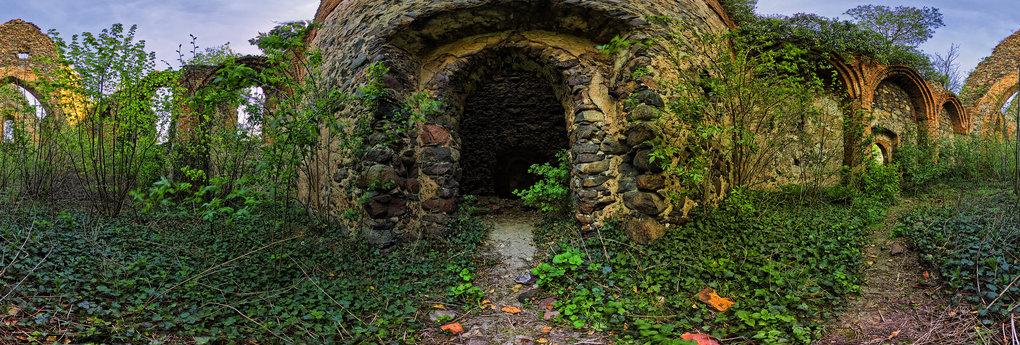 Ruina kościoła w Długich