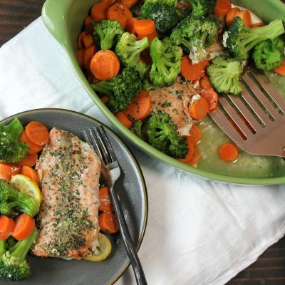 Light and Healthy Salmon Dinner