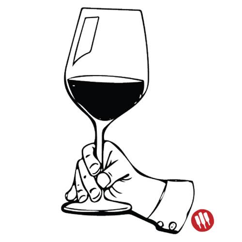 Como sostener una copa de vino