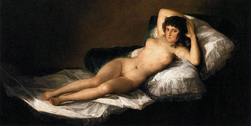 Francisco de Goya y Lucientes, Nude Maja  Prado Museum, Madrid Spain