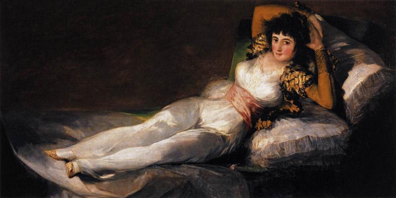 Francisco de Goya y Lucientes, Clothed Maja, Prado Museum, Madrid Spain