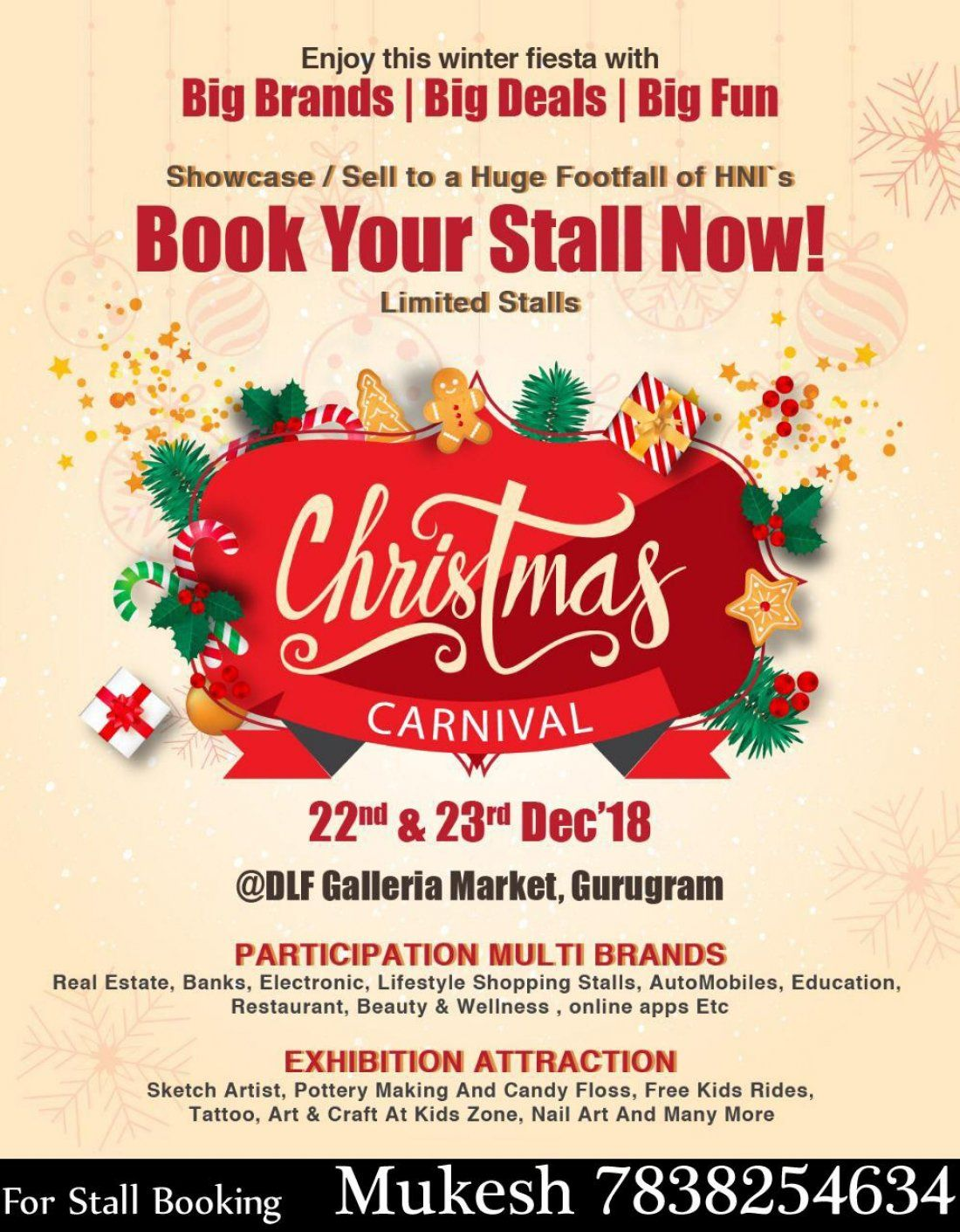 Christmas Carnival Poster.Kids Usher The Season With Christmas Carnivals In Gurgaon