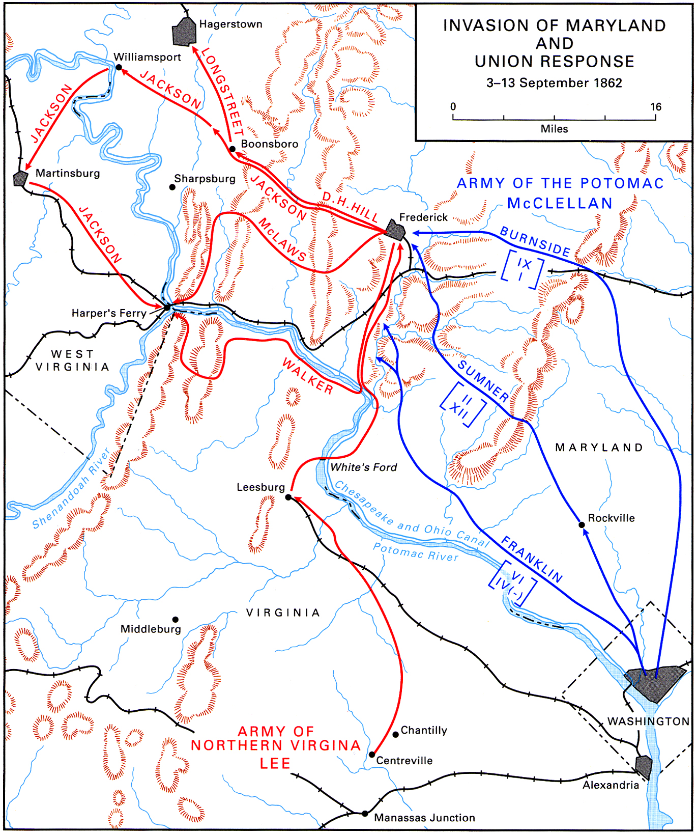 American Civil War Campaign Area And Battle Maps
