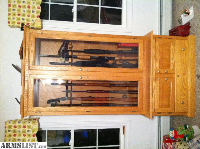 Armslist For Sale Trade Custom Made Wood Gun Cabinet