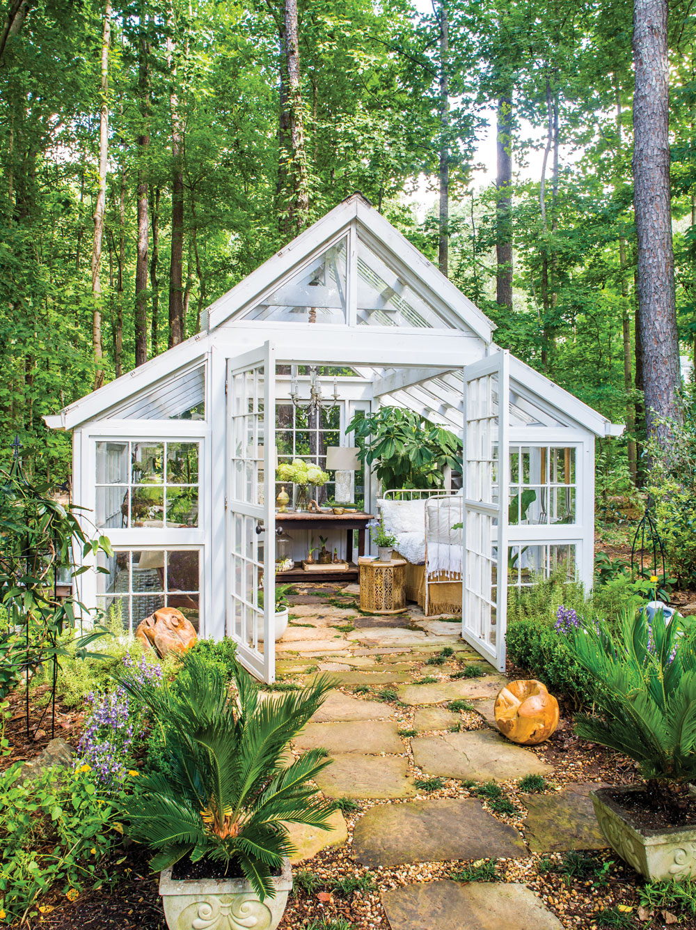 Room Envy: This glass garden house in Marietta is a ... on Mansion Backyard Ideas id=15799