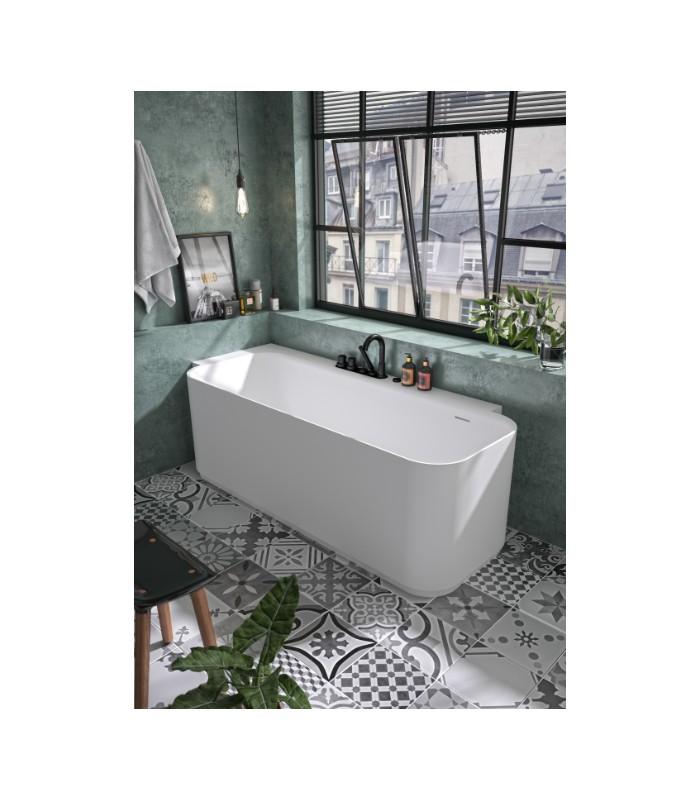 baignoire en ilot luvia aquarine angle gauche solid surface mat