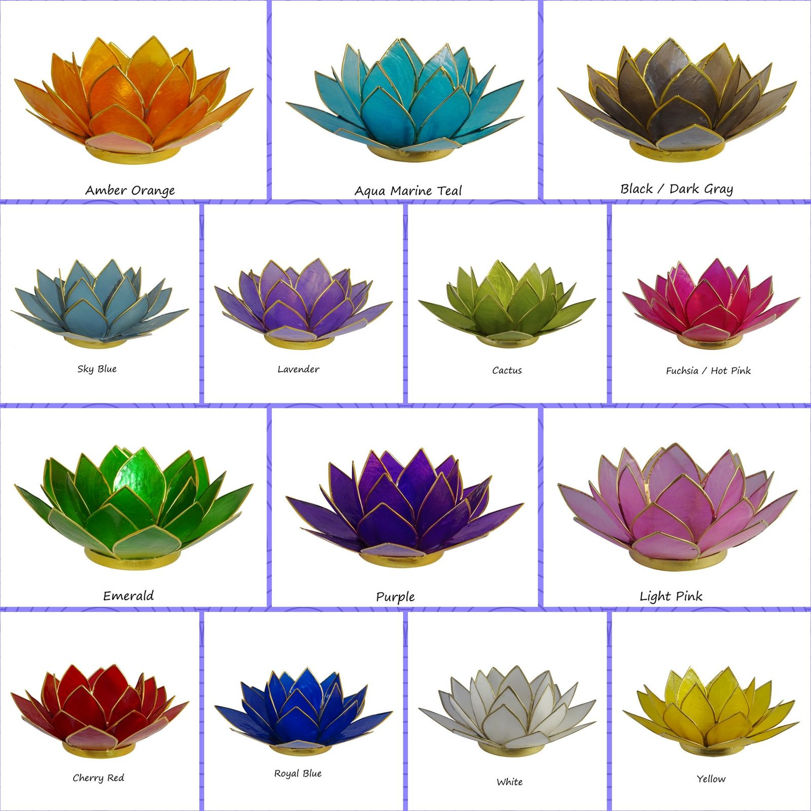 New Colors Lotus Tea Light Candle Holders The Crabby Nook
