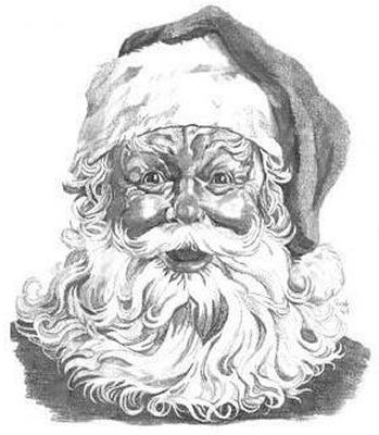 Santa Claus Pencil Sketch